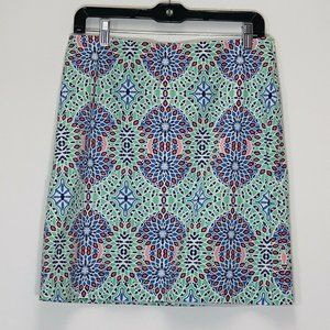 Talbots Straight Geometric Abstract skirt lined 6
